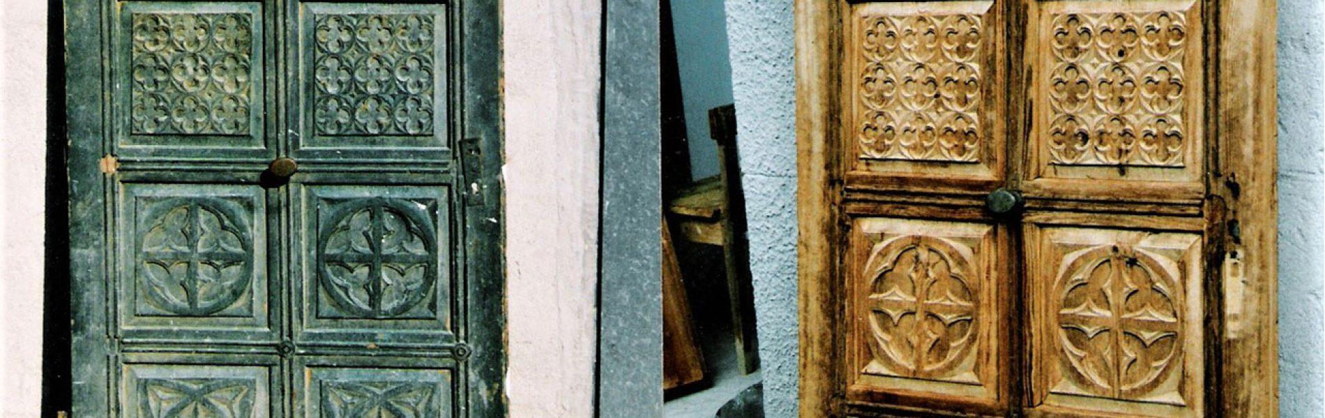Antike Möbel Tür erneuern